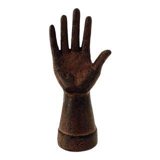 1910s Antique Cast Iron Hand Figurine For Sale