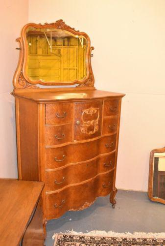 Antique Birds Eye Maple Gentleman S Chest With Mirror
