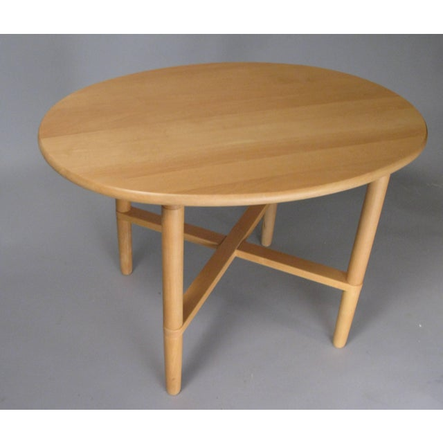 Mid-Century Modern Pair of Oval Danish Tables by Haslev For Sale - Image 3 of 8