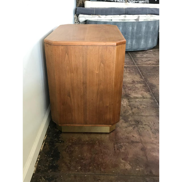 1960s Campaign Style Oak Nightstand For Sale - Image 4 of 6