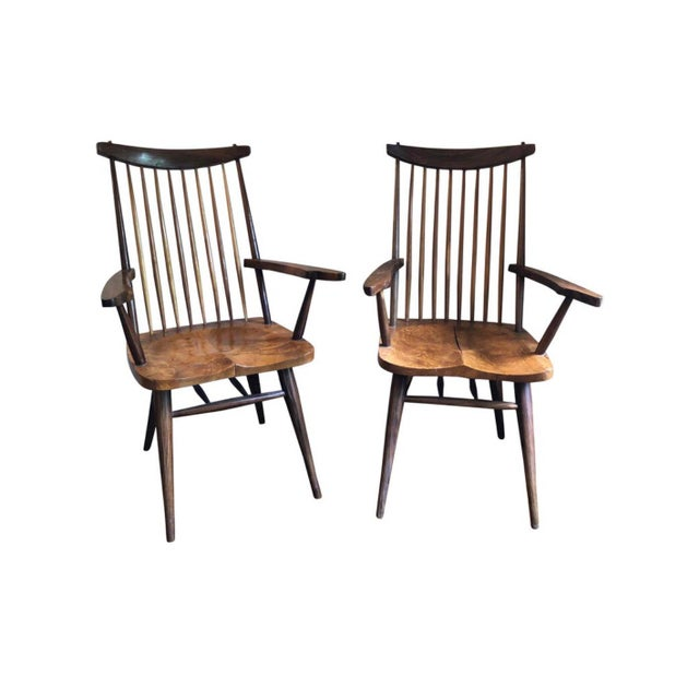 """1940s Vintage George Nakashima Style """"New"""" Chairs- A Pair For Sale In Los Angeles - Image 6 of 6"""