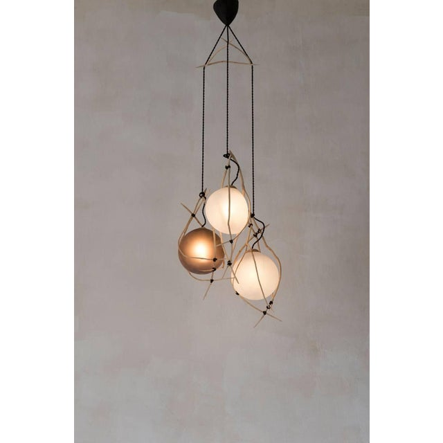 """Contemporary Jérôme Pereira, """"Hermanos"""" Sculpted Suspension Lighting For Sale - Image 3 of 4"""