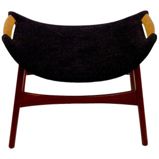 Danish Modern Footrest Ottoman Stool Attributed to p.i. Langlos Fabrikker For Sale
