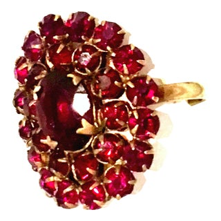 Mid-20th Century Gold & Rose Cut Garnet Ring For Sale