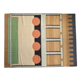 """Vintage Contemporary Kilim Carpet - 6'5"""" X 8'6"""" For Sale"""