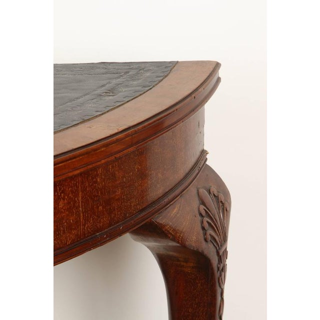 19th Century English demilune table For Sale In Los Angeles - Image 6 of 10