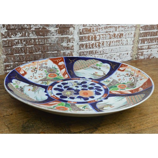 19th Century Paneled Japanese Imari Charger For Sale - Image 9 of 10