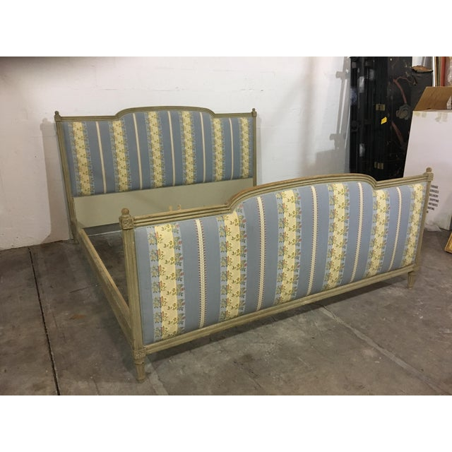 20th Century French Style Upholstered King Bedframe For Sale - Image 10 of 10