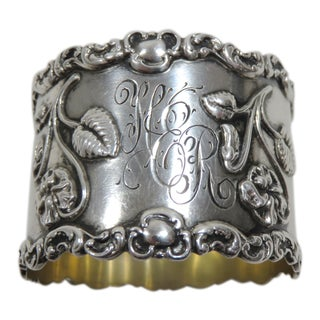 Antique Victorian Sterling Silver Napkin Ring For Sale
