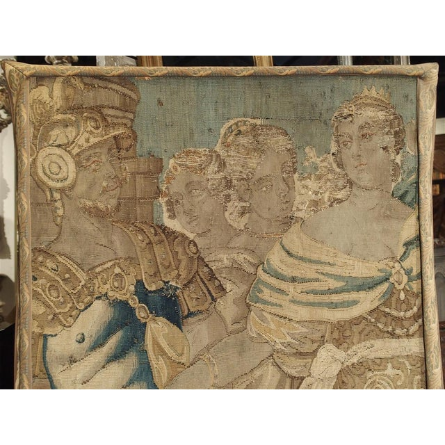17th Century 17th Century French Tapestry Fragment on Frame For Sale - Image 5 of 11