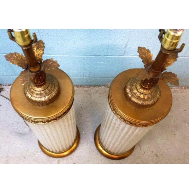 Murano Glass Gilt Table Lamps - A Pair - Image 6 of 6