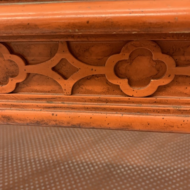 Orange Chinese Chippendale Coffee Table For Sale In Richmond - Image 6 of 13