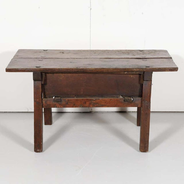 18th Century Solid Walnut Spanish Side Table For Sale - Image 12 of 13