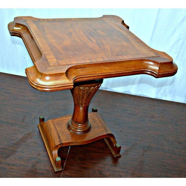 Metal Vintage Wooden Side Table For Sale - Image 7 of 7