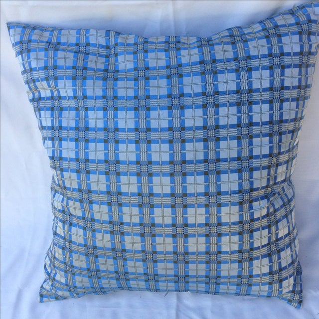 Plaid Embroidered Dragonfly Pillow - Image 5 of 5