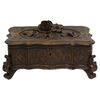 Antique Black Forest Jewelry Box For Sale