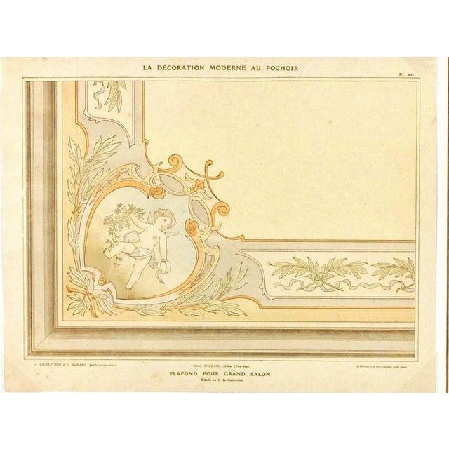 Antique Ceiling Decor, C. 1890 For Sale - Image 4 of 4