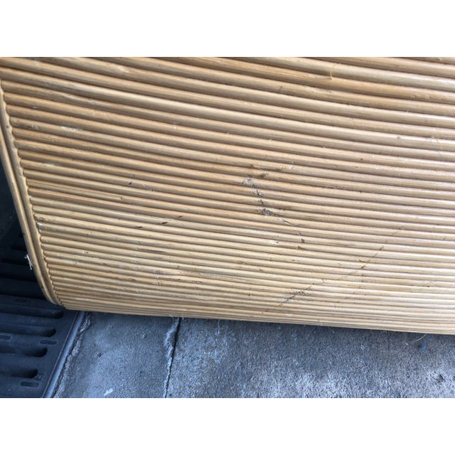 Vintage Pencil Reed Rattan Chest of Drawers For Sale - Image 10 of 13