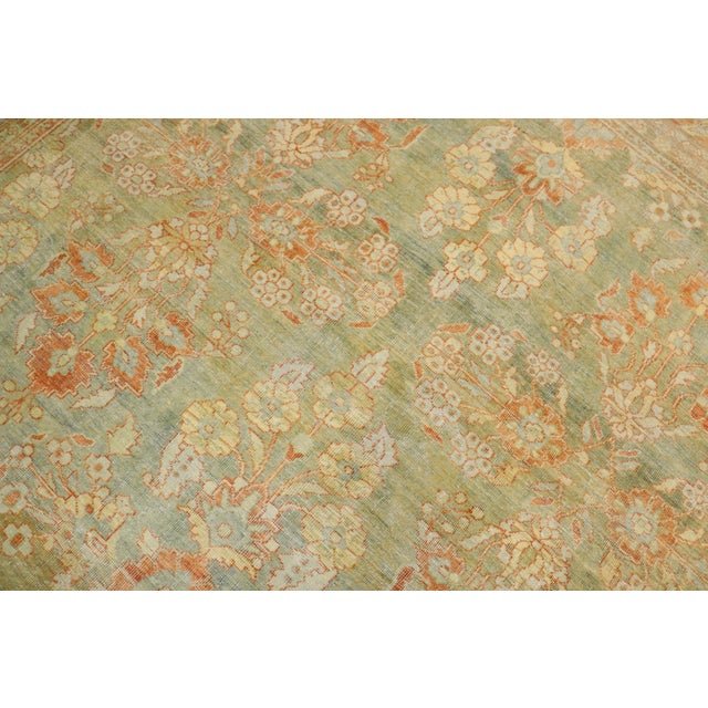 Pale Green Terracotta Antique Rug, 9'1'' X 12'7'' For Sale In New York - Image 6 of 13