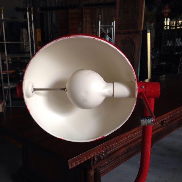 Red Industrial Floor Lamp - Image 5 of 8