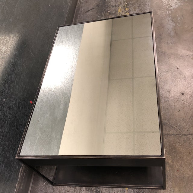 Restoration Hardware Gramercy Narrow Coffee Table With Drawers For Sale - Image 9 of 10