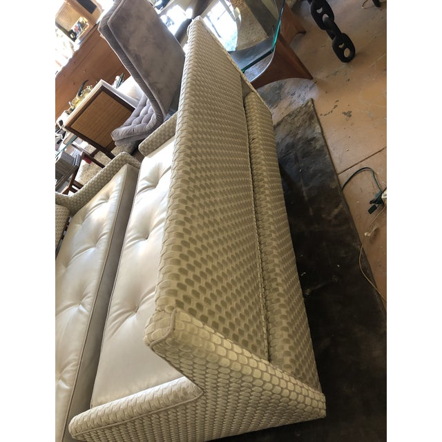 Cream Mid Century Modern Edward Wormley by Dunbar Open Back Sofas Newly Upholstered - Set of 2 For Sale - Image 8 of 9