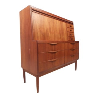 Mid-Century Ib Kofod Larson Teak Secretary Desk For Sale