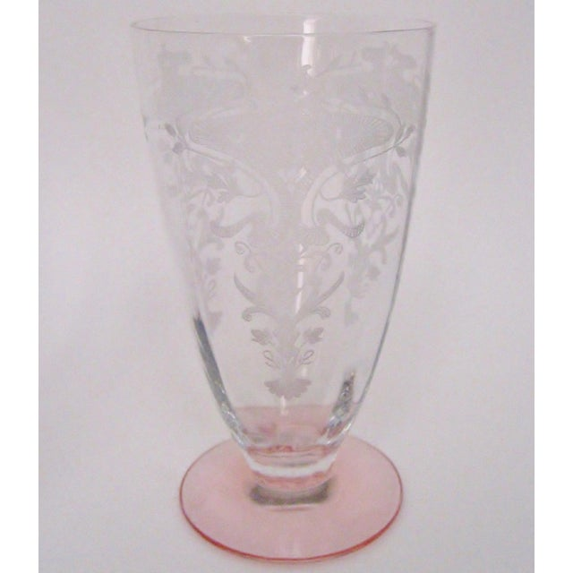Traditional Vintage Etched Glasses, Set of 6 For Sale - Image 3 of 6