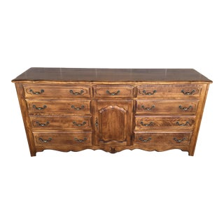 Ethan Allen Country French 12 Drawer Triple Dresser For Sale