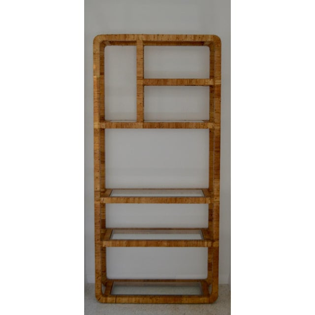Rattan Mid-Century Rattan Bookcase For Sale - Image 7 of 13