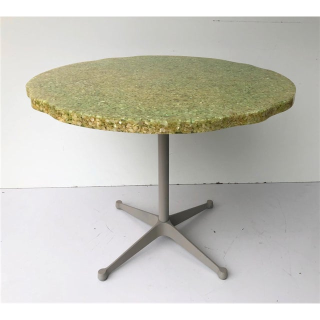 Vintage Resin and Seashell Biomorphic Top Dining Table For Sale - Image 11 of 11