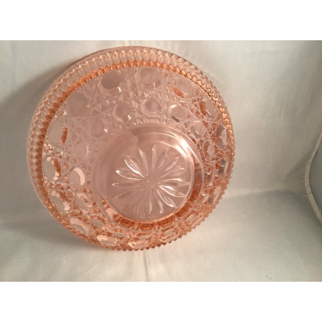 1980s Vintage Peach Glass Dish For Sale - Image 5 of 10