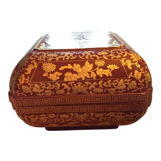 Early 20th Century Antique Chinese Gold Lacquered Box For Sale