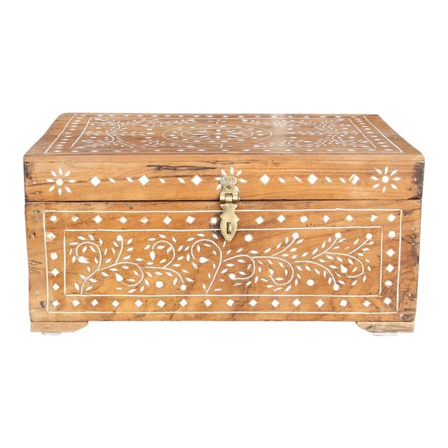 Anglo-Indian Bone Inlay Document Box For Sale