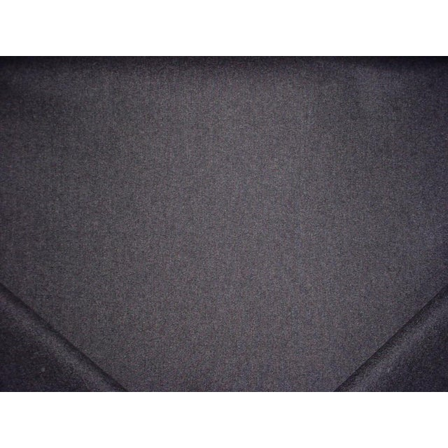 Traditional Traditional Kravet Couture Charcoal Gray Heavy Wool Felt Upholstery Fabric - 18-1/4y For Sale - Image 3 of 5