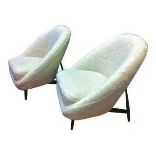 Theo Ruth for Artifort, 1950s Chairs, Newly Reupholstered in Wool Faux Fur