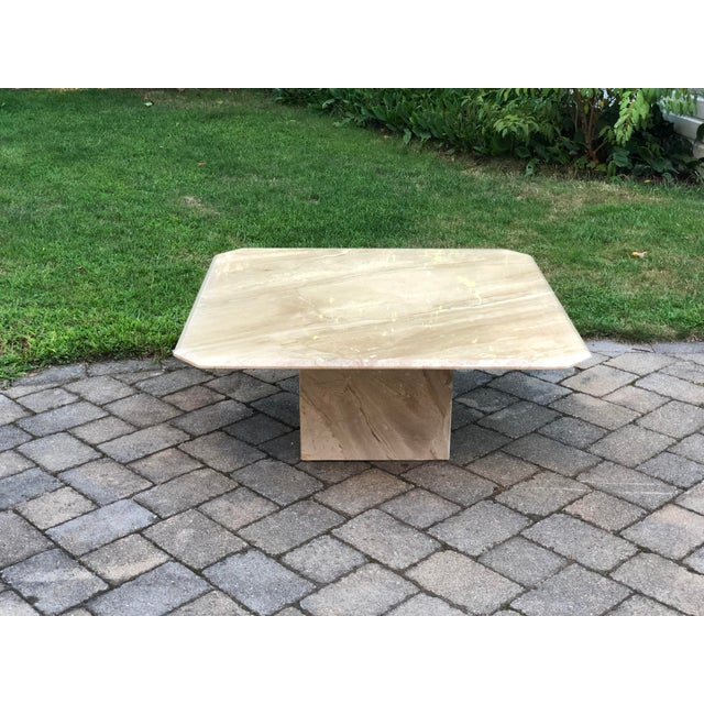 Art Deco Italian Travertine Coffee Table For Sale - Image 4 of 13