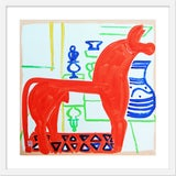 "Image of Medium ""Horsey"" Print by Jelly Chen, 25"" X 25"" For Sale"