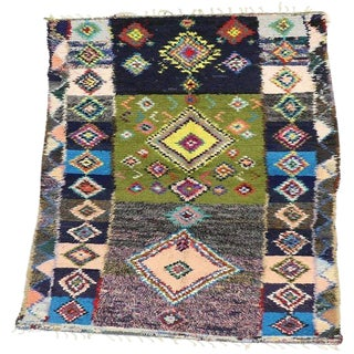20th Century Moroccan Berber Rug With Tribal Style For Sale