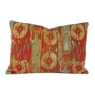 Pindler Palette in Persimmon Chenille Lumbar Pillow Cover For Sale