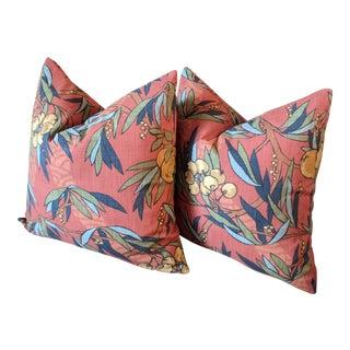 Robert Allen at Home Nouveau Fruit Duck Pillows - A Pair For Sale