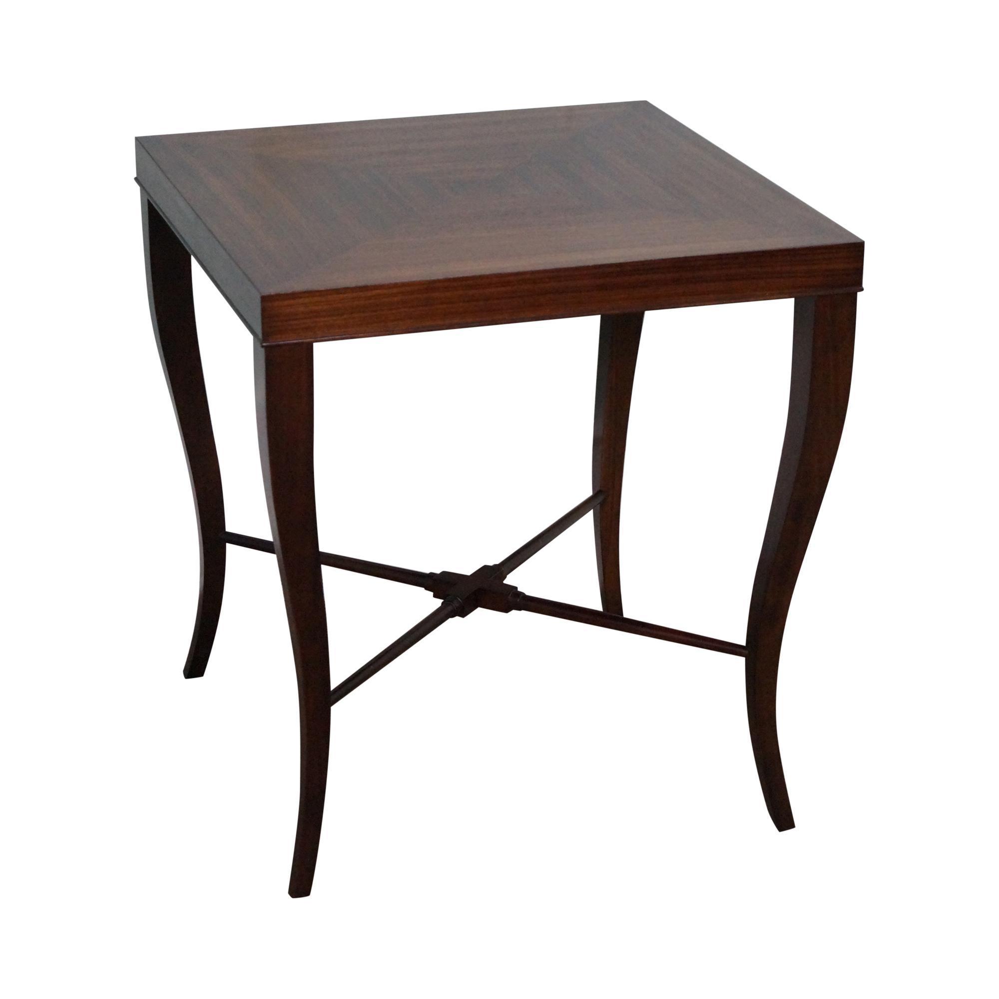 Ethan Allen Gracie Zebra Wood Side Table