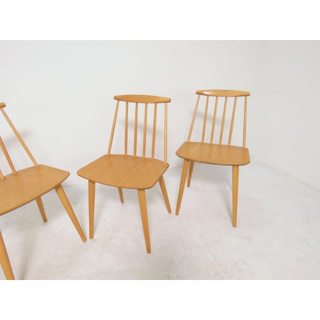 Mid-Century Modern Set of Four Folke Palsson for Fdb Mobler, Denmark Dining Chairs, Circa 1975 For Sale - Image 3 of 11