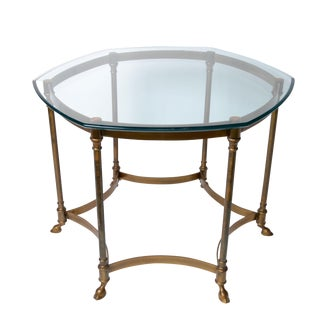 French Brass & Glass Top Coffee Table