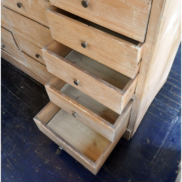Tall Blonde Wood Cabinet - Image 2 of 6