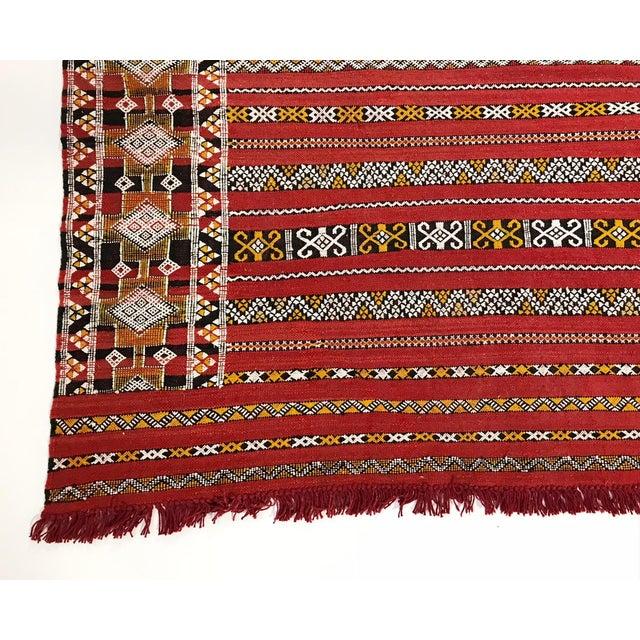 Moroccan Handmade Kilim Rug - 7′6″ × 11′6″ - Image 4 of 11