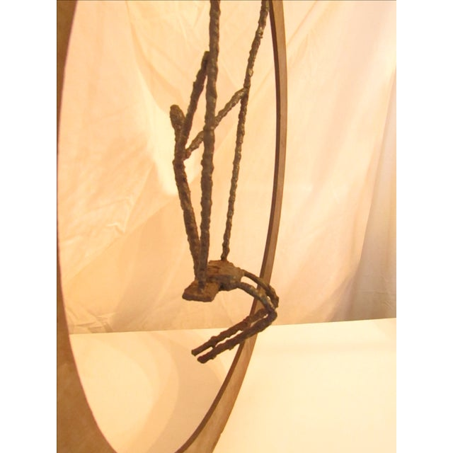 Large Hand Crafted Art Swing Sculpture - Image 5 of 6
