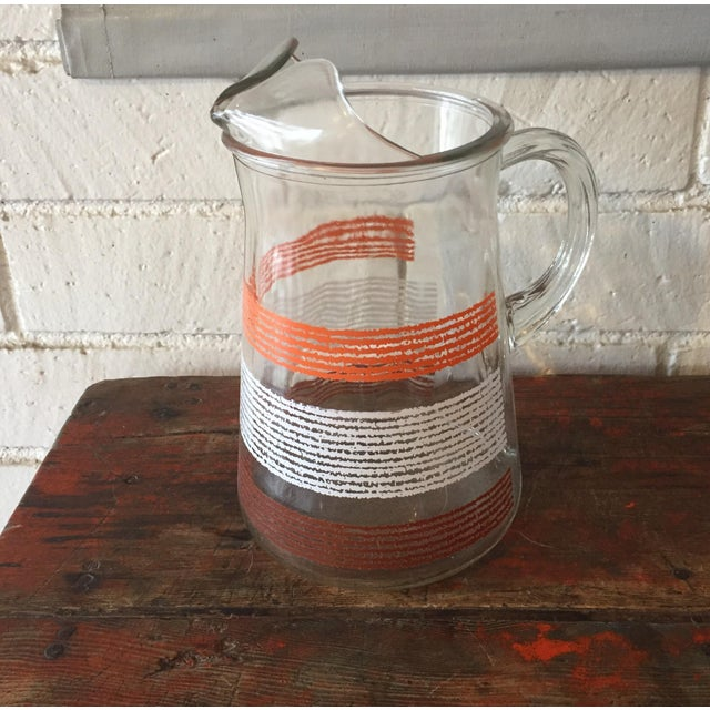 Libbey Glass Pitcher With Stripes - Image 4 of 5