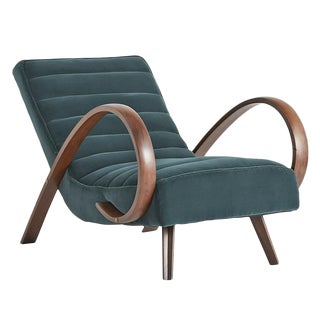 Reupholstered Lounge Chair in the Style of Halabala Circa 1940