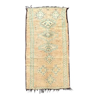 1970s Boho Chic Moroccan Boujaad Rug- 5′3″ × 11′10″ For Sale